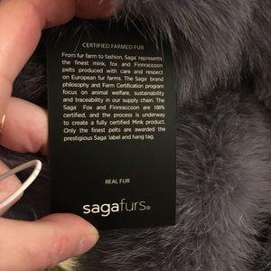 Saga fur real fur collar and cuffs NWT